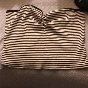 Bp striped crop top